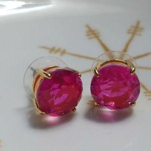 Kate spade pink gumdrop stud earrings EUC